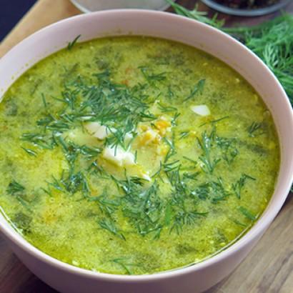 Zupa szpinakowa z botwinką