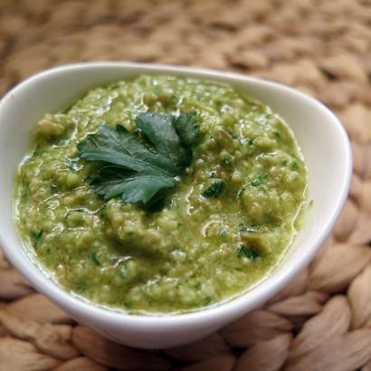 Pesto z zielonych oliwek