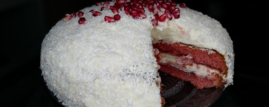 Pink coconut cake